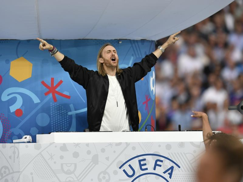 French DJ David Guetta performs during the opening ceremony of  Euro 2016.  (AP)