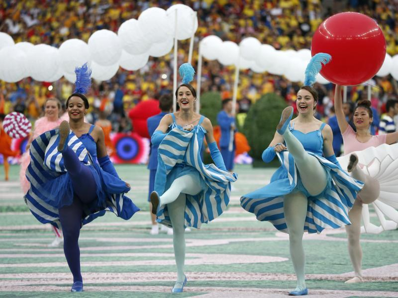 Dancers perform during the opening ceremony. (AP)