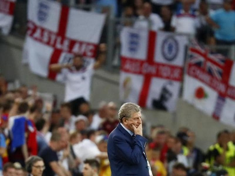 England coach Roy Hodgson looks on as Russia equalise. (Reuters)