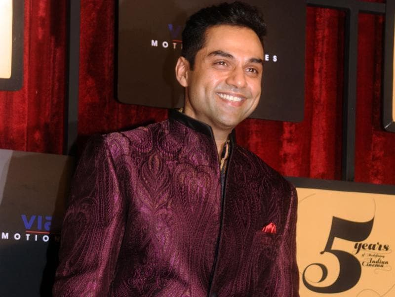 Abhay Deol poses as he attends the Viacom 18 Motion Pictures 5 years completion party in Mumbai. (AFP)