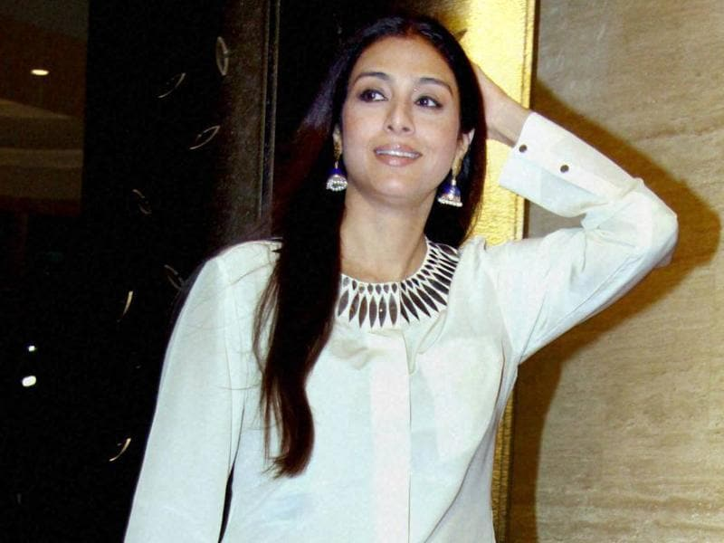 Tabu during the fifth anniversary celebration of Viacom18 Motion Pictures in Mumbai. (PTI)