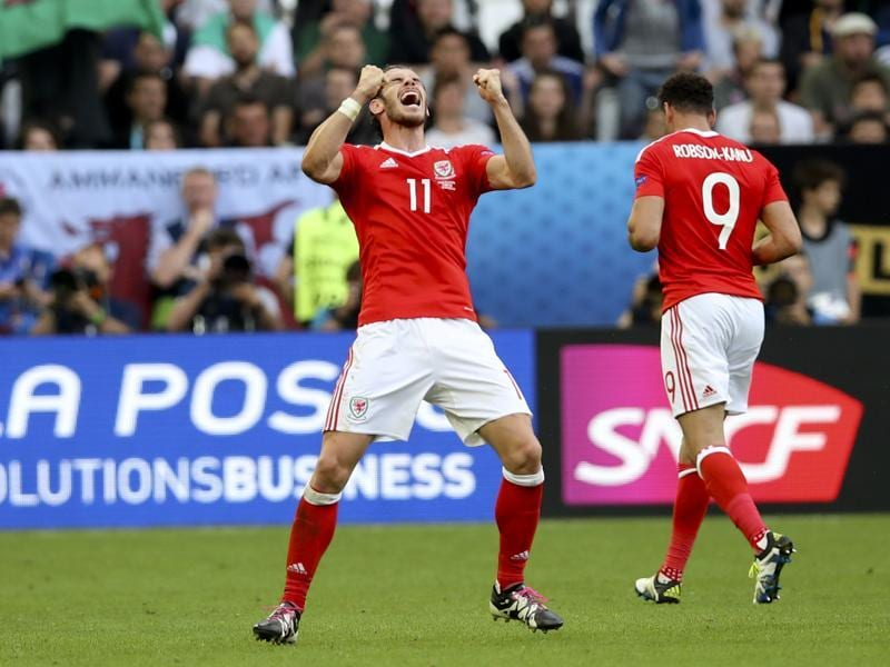 Bale celebrates the winning goal. (AP)