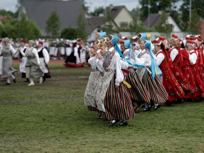 Estonia's deeply rooted pagan spirit finds expression in its songs and dances as well. Its people bear close ties with nature. (REUTERS)