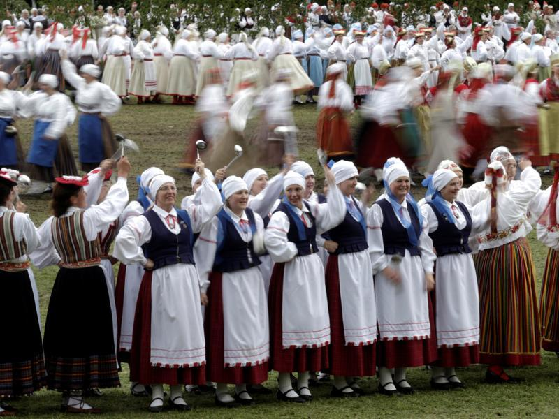Look, how these women celebrate life with dance and music in Estonia. (REUTERS)