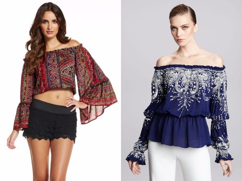 Off-the-shoulder Paisley peasant blouse: Saunter into your next gig sporting an ethereal paisley peasant blouse, and you may be mistaken for a headlining artist. (Pinterest)
