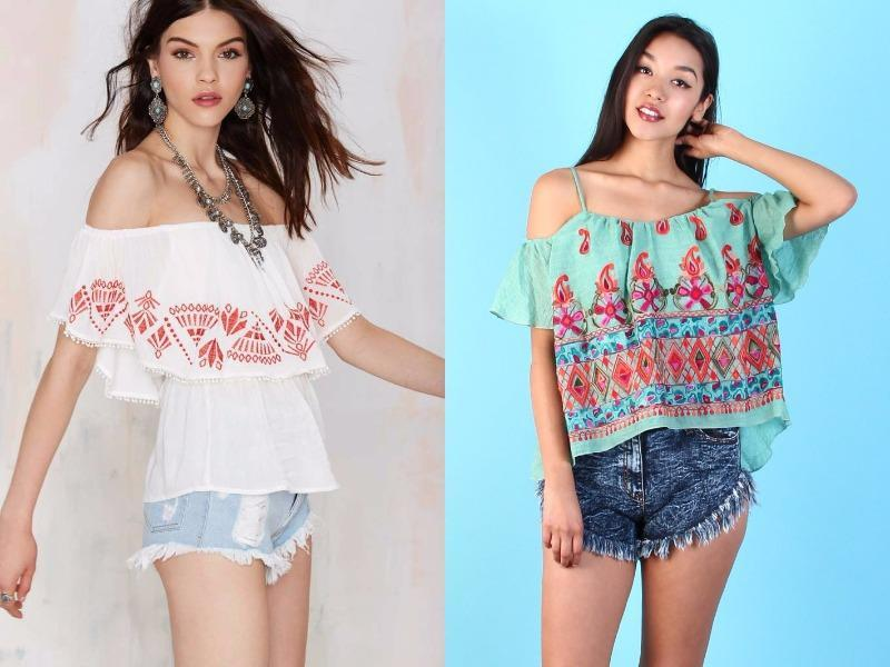 Embroidered off-the-shoulder top: Put your shoulders on parade in an embroidered top, which simply begs to be taken for a spin on a tropical getaway. (Pinterest)