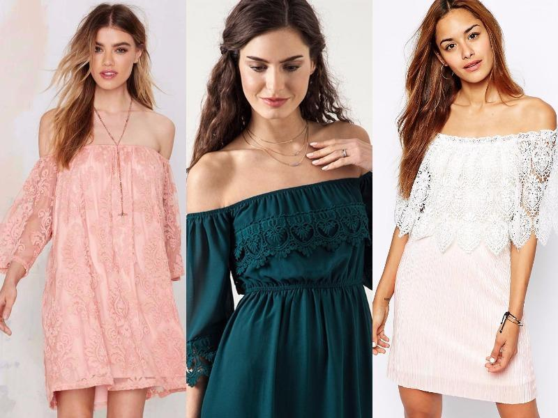 Lace off-the-shoulder dress: Nail your come-hither look in this modest yet flirty number. (Pinterest)