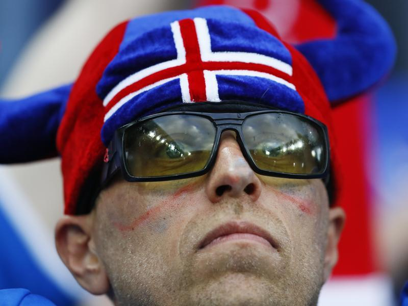 An Iceland fan waits before the Euro 2016 match against Portugal. (Reuters Photo)