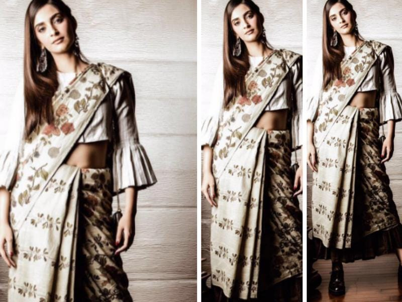 Sonam Kapoor can rock a saree with shoes. Just in case you needed proof. (Instagram)