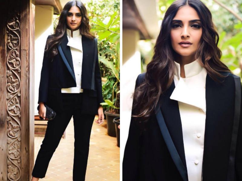 That is how Sonam Kapoor turned up for the launch of 24 trailer, dad Anil Kapoor's TV show.  All we can say is, you go girl. (Instagram)