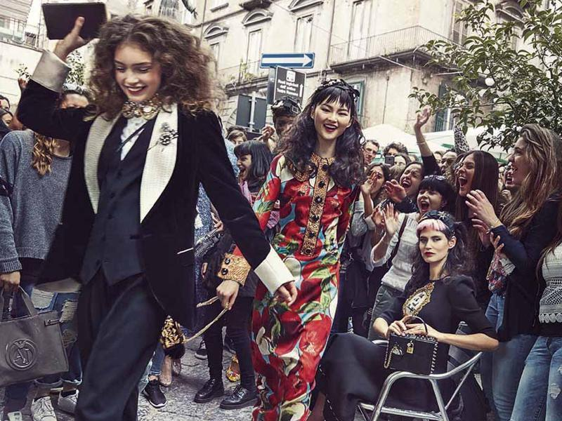 The Italian fashion house has released the images for its Autumn/Winter 2016 campaign, with the everyday citizens of Naples taking on a starring role. (Dolce & Gabbana)