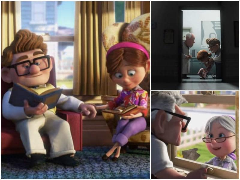 2. Up: Carl and Ellie are relationship goals and forever will be for anyone who has seen Up. This movie made us cry more in the first five minutes of the movie than all the movies combined in the last five years. A beautiful story of a couple growing old together until one of them gets left behind, all alone in this world. (Youtube)