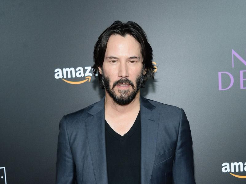 Actor Keanu Reeves attends the premiere of Amazon's The Neon Demon at ArcLight Cinemas . Reeves plays a mysterious character named Hank. (AFP)