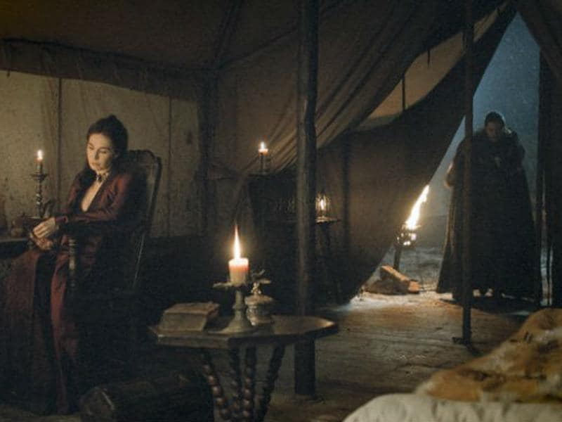 "Jon to Melisandre: ""If I die this time, don't bring me back."" Yea, dream on Snow, fans wont let this happen. (HBO)"