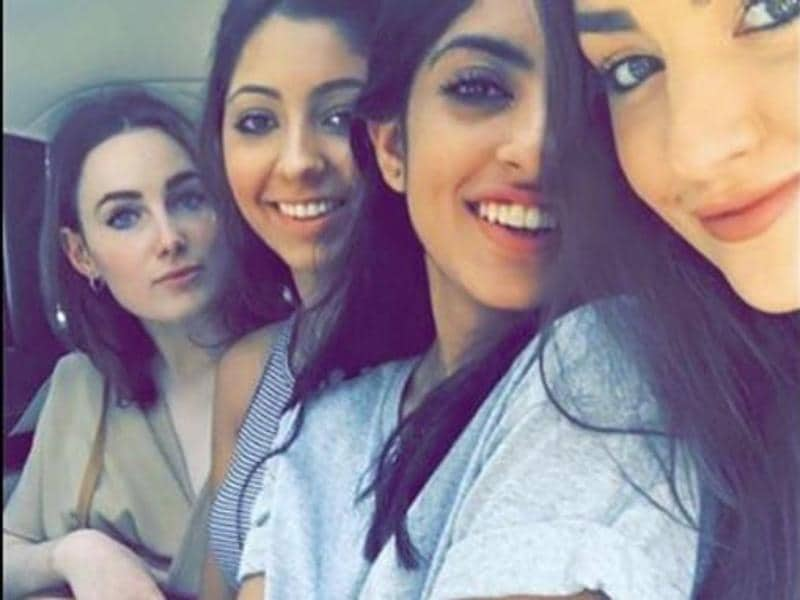 Navya with her gang of girls. (Instagram)
