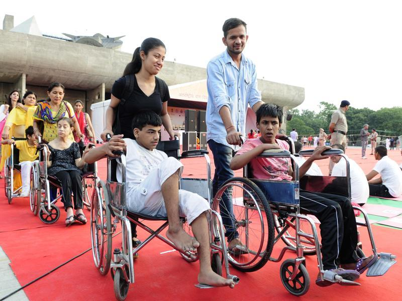 Specially-abled  people will also be performing at the event.  (Keshav Singh/HT Photo)