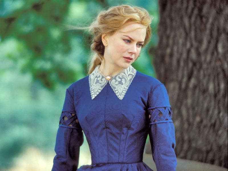 1. Ada Monroe in Cold Mountain (2003): Set during the days of American Civil War, Kidman plays the role of Ada Monroe. The movie tells of her journey of reunion with her sweetheart played by Jude Law.