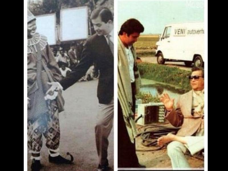 Rishi Kapoor also shared pictures from the sets of Raj Kapoor's films. (Instagram)