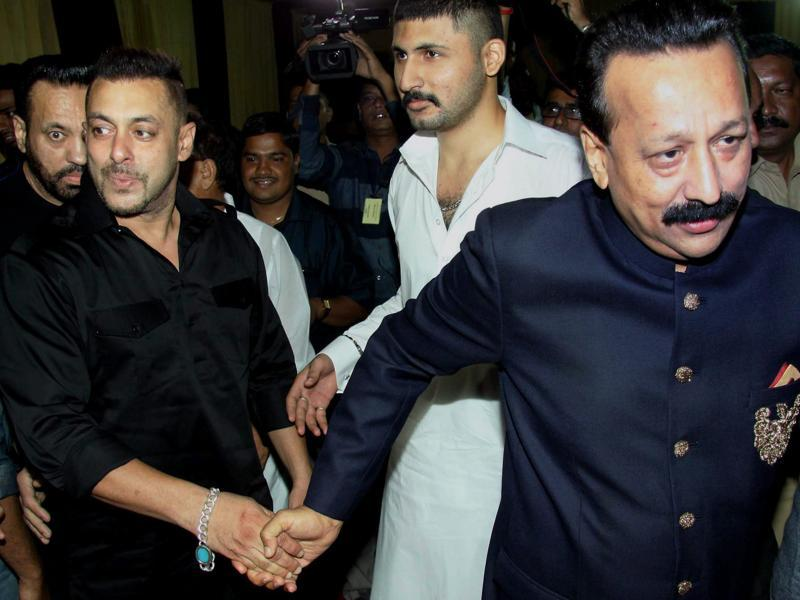 Salman Khan too attended the party hosted at a five-star hotel in suburban Bandra.  (PTI)