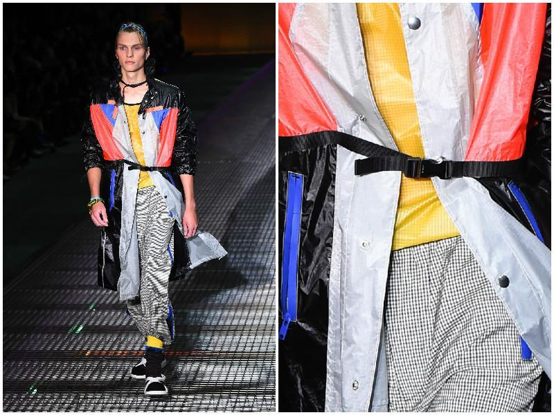 Prada embraced athleisure with an eye-poppingly bright display of neons. (AFP)