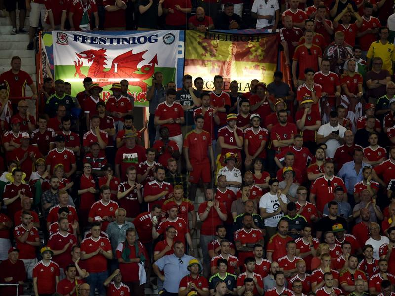 Wales fans look on during the Euro 2016 group B football match between Russia and Wales at the Stadium Municipal in Toulouse. (AFP Photo)
