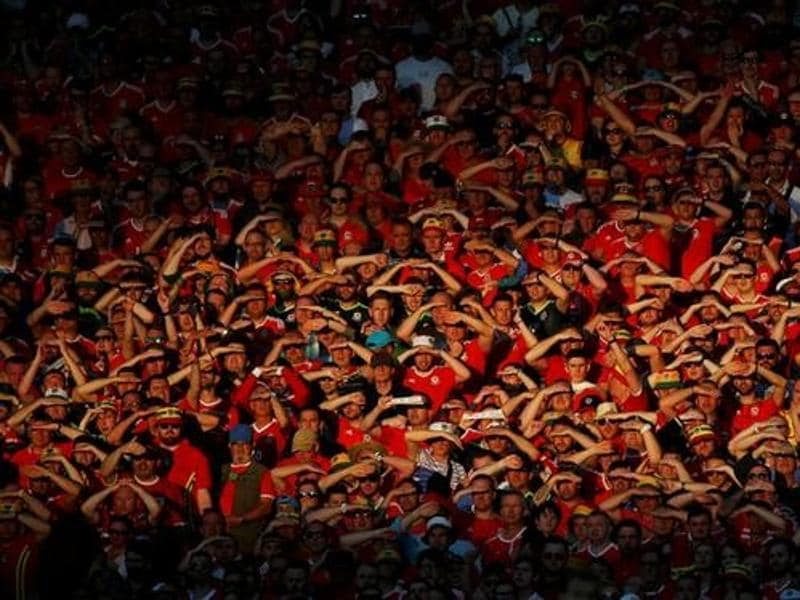 Wales' fans during their match against Russia at Stadium de Toulouse in France.  (Reuters Photo)