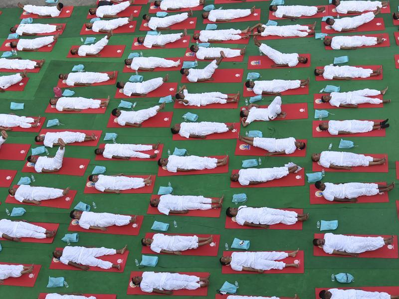 The United Nations General Assembly declared June 21 as the International Day of Yoga in December 2014. (Raj K Raj/HT Photo)