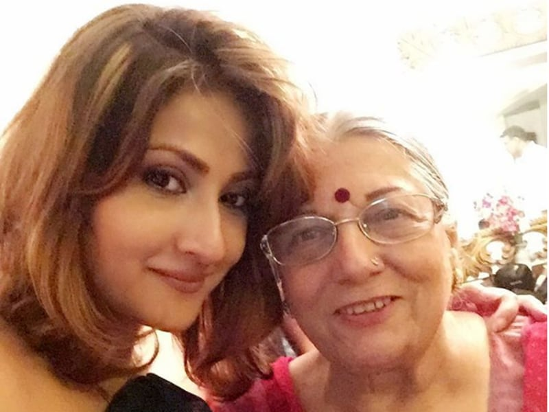 Urvashi Dholakia with her mother.