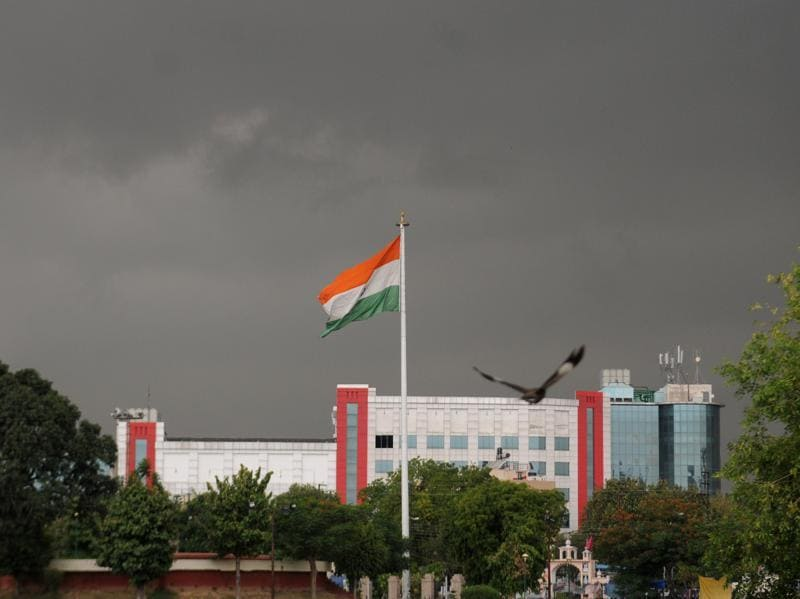 An overcast sky in Patiala on Wednesday. (Bharat Bhushan/HT)