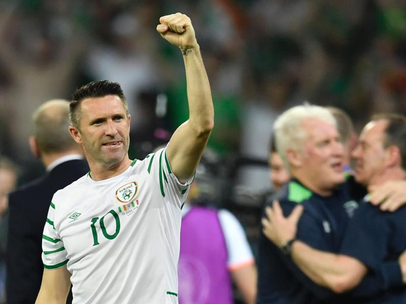 Ireland's forward Robbie Keane reacts after the Euro 2016 group E football match. (AFP photo)
