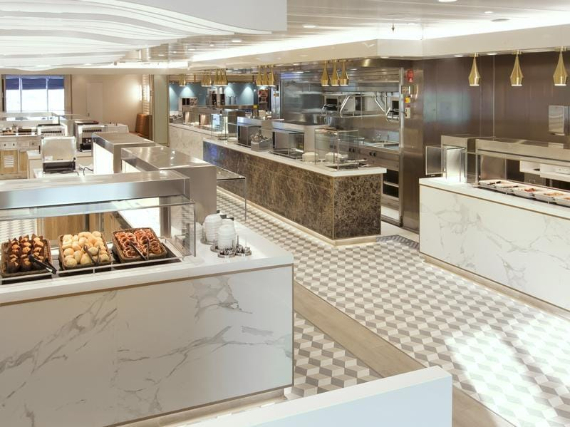 King's Court was also given a new look, with more open plan cooking areas that are expected to feature cooking demos by the kitchen staff. (AFP)