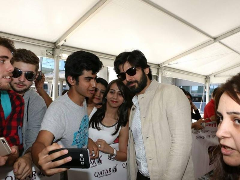 Fawad Khan arrives at Adolfo Suarez Madrid-Barajas Airport to attend IIFA Awards in Madrid.  (IANS)