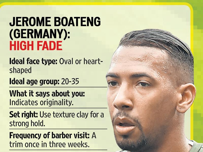 Jerone Boateng replaced the short mohawk with a high fade.