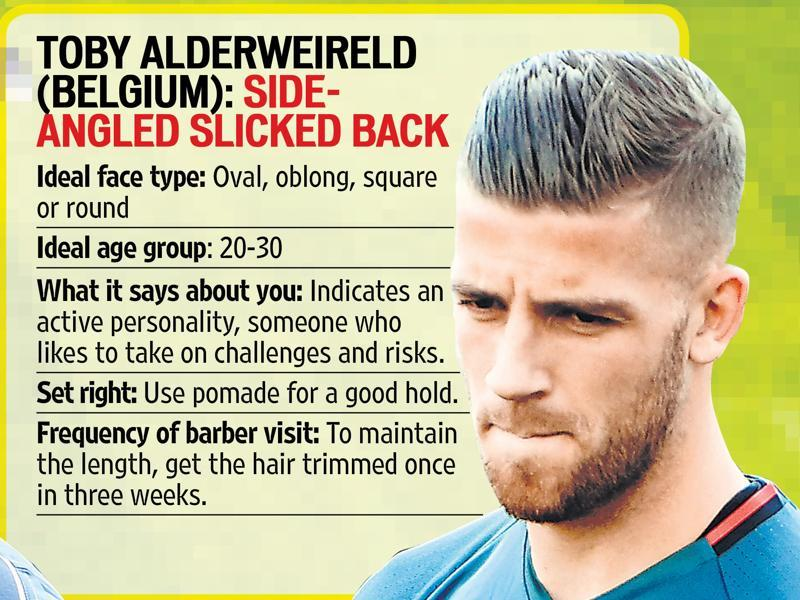 Toby Alderweireld has a side-angled, slicked-back haircut.