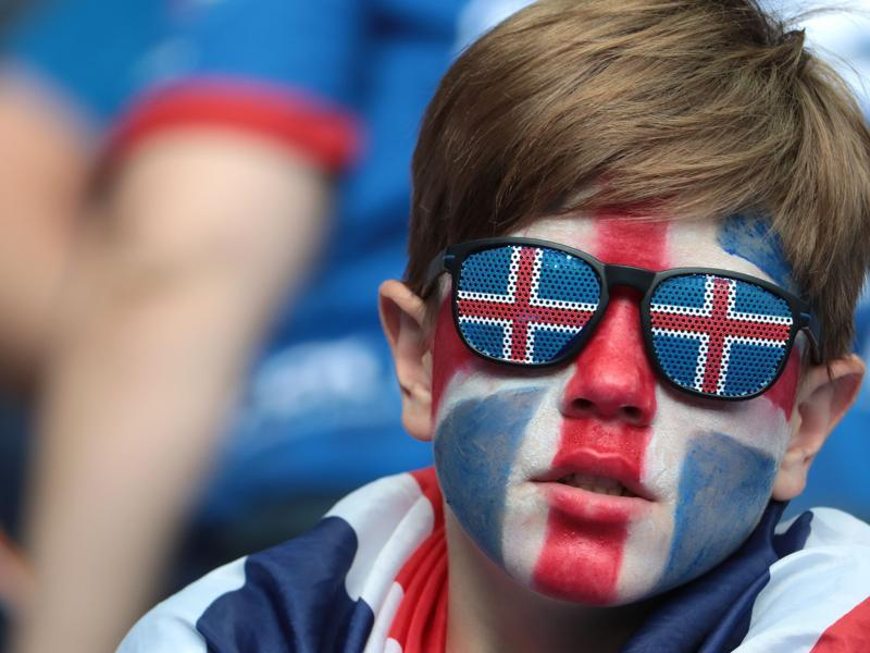 An Iceland supporter waits before the Euro 2016 group F football match between Iceland and Austria at the Stade de France stadium in Saint-Denis. (AFP Photo)