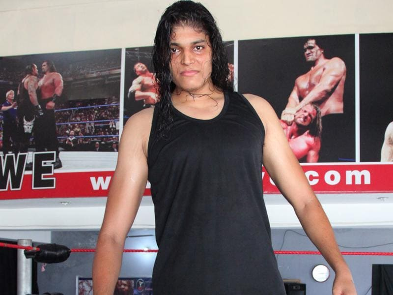 Shanky Singh: Gurvinder Singh Malhotra, 26, from Jagadhri in Haryana, 7'-1'', as tall as Khali. Son of a factory supervisor, he turned to the gym while working as accountant at a university in Mullana. (Anil Dayal/HT Photo)