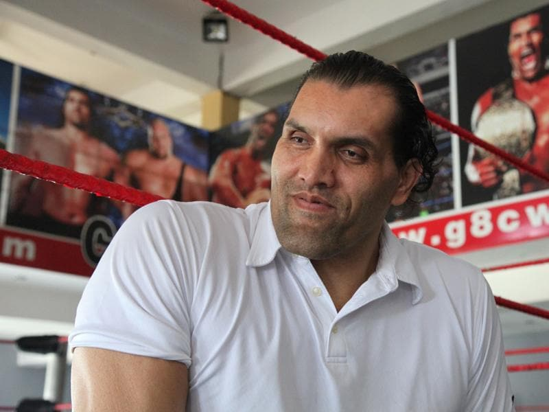 Dalip Singh Rana, or The Great Khali, at the 8-acre Continental Wrestling League (CWE) campus   near Jalandhar in Punjab. The CWE is an academy of wrestling-entertainment stars.  (Anil Dayal/HT Photo)