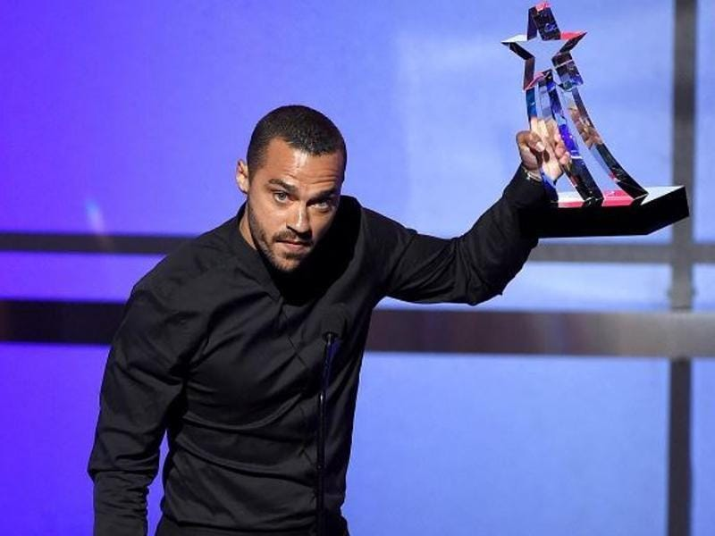 Perhaps one of the most impassioned speeches of the evening came from Humanitarian Award winner, Grey's Anatomy star Jesse Williams. (Instagram)