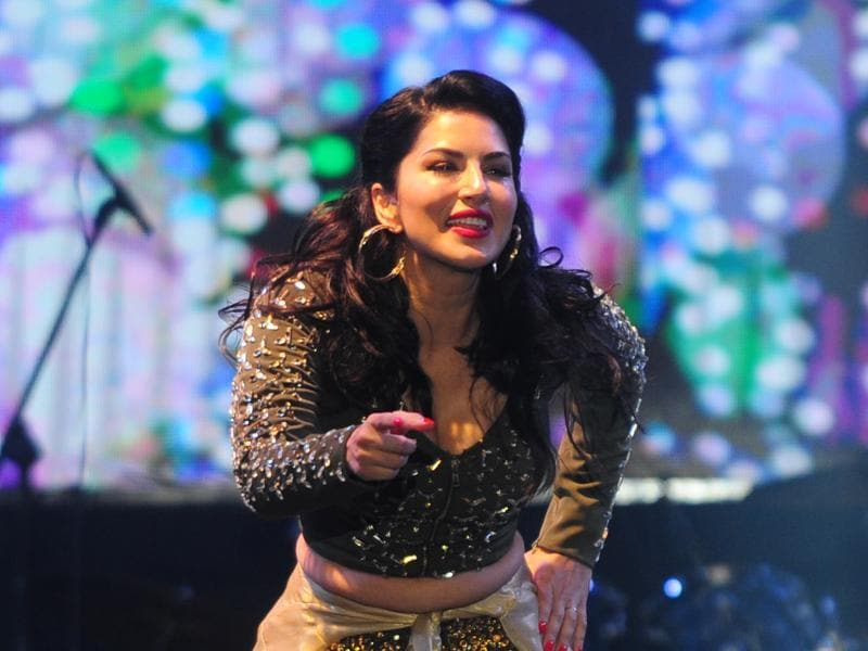 Sunny Leone was at her chirpiest best during her Chennai stage performance. (AFP)