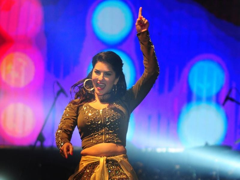 Sunny Leone performs at an event in Chennai on late 25 June. (AFP)