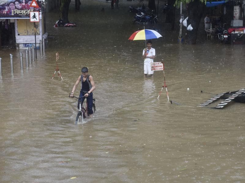 Waterlogging in Mumbai is a perennial problem. However, the Brihanmumbai Municipal Corporation this year assured residents that waterlogging will be far lesser this year compared to the previous monsoons.  (Anshuman Poyrekar)