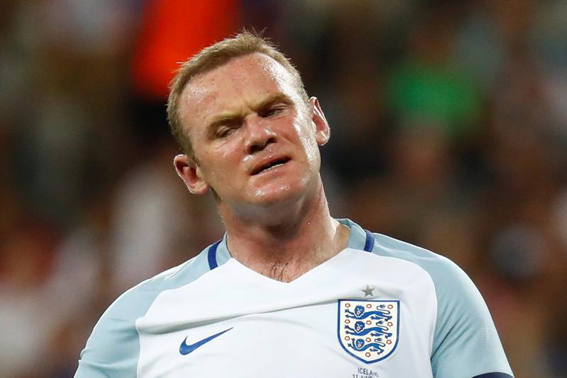 England's Wayne Rooney reacts on a disappointing  finish at the Euro 2016 for England. (REUTERS  PHOTO)