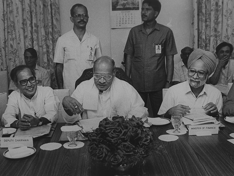 One of the most enduring legacies of Rao's tenure is the introduction of the economic reforms in 1991. With Manmohan Singh as his Finance Minister, he dismantled the License Raj and opened up India's economy. (HT Photo/Arun Jetlie)