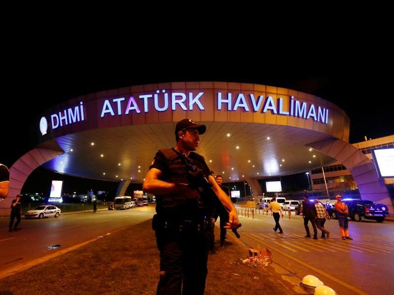 A triple suicide bombing and gun attack at Istanbul's Ataturk airport killed at least 36 people early Wednesday. (REUTERS)