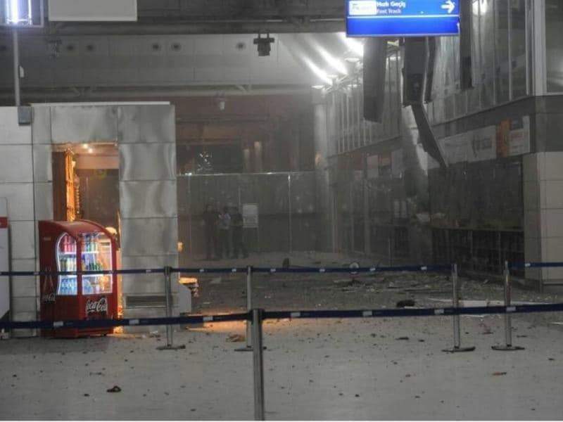 A view of the entrance of the Ataturk international airport after two suicide bombers opened fire before blowing themselves up at the entrance in Istanbul. (Reuters)