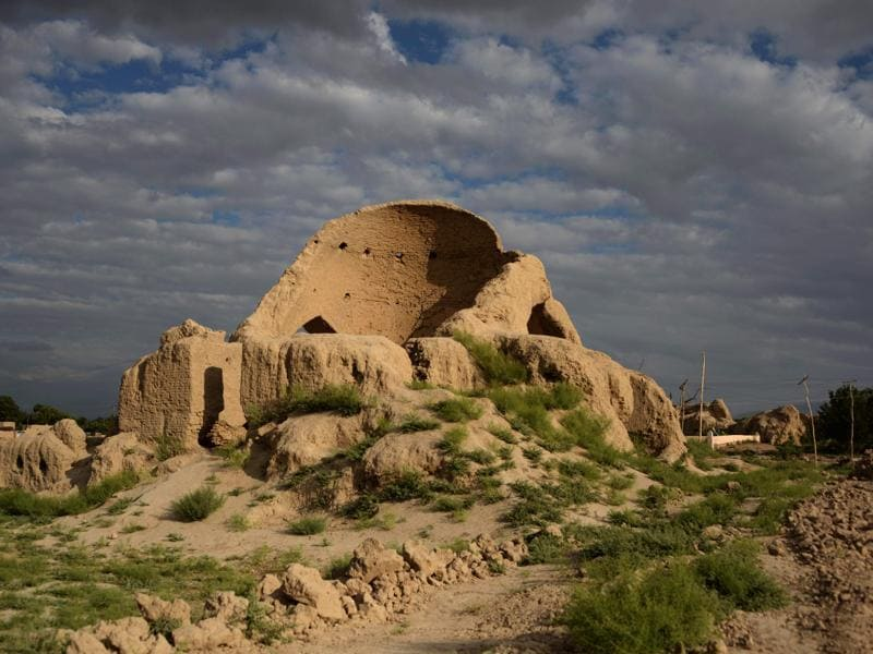 This photograph taken on June 19, 2016, shows the ruins of the house of Sufi mystic and poet Rumi in the Khowaja Gholak district of northern Balkh province of Afghanistan. Celebrated Sufi mystic and poet Jalal ad-Din Muhammad Rumi, popularly known as Rumi, was a man of many parts--poet, jurist, Islamic scholar, theologian and Sufi mystic. Immensely popular the world over, the 13th-century poet's name has been mired in two different controversies of late. (AFP)