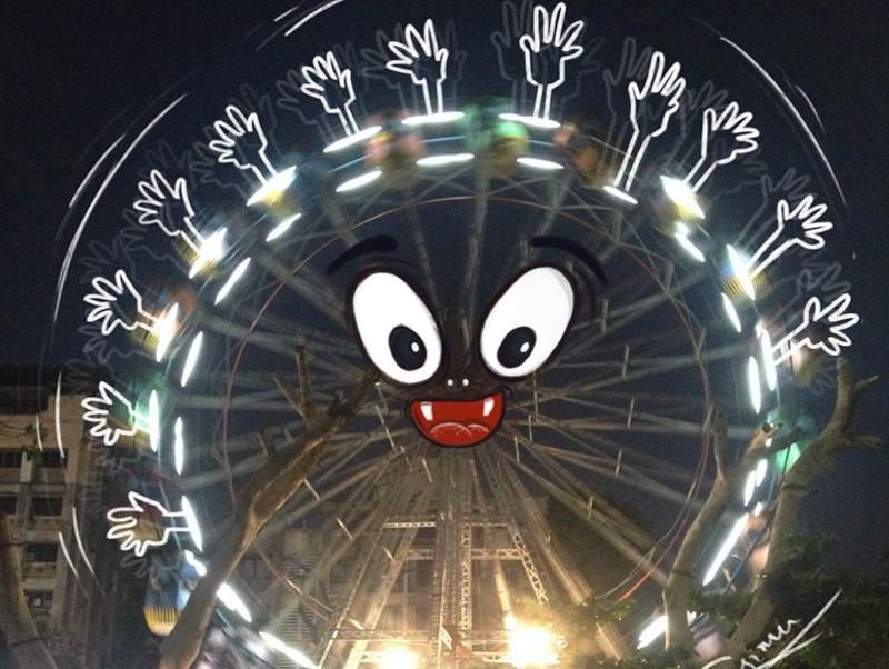 Ferris wheel morphs into a monster in Thane.  (Courtesy: Sebin Simon )