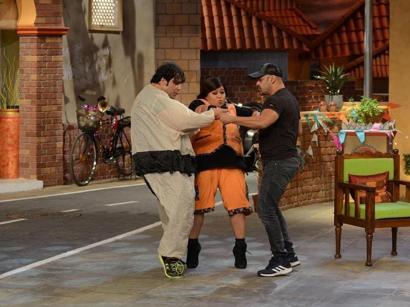 Krushna Abhishek sure won the final round in his competition with Kapil Sharma. While Kapil had Krushna's uncle Govinda on his show, Krushna managed Bollywood star Salman to appear on his show. (COLORS)