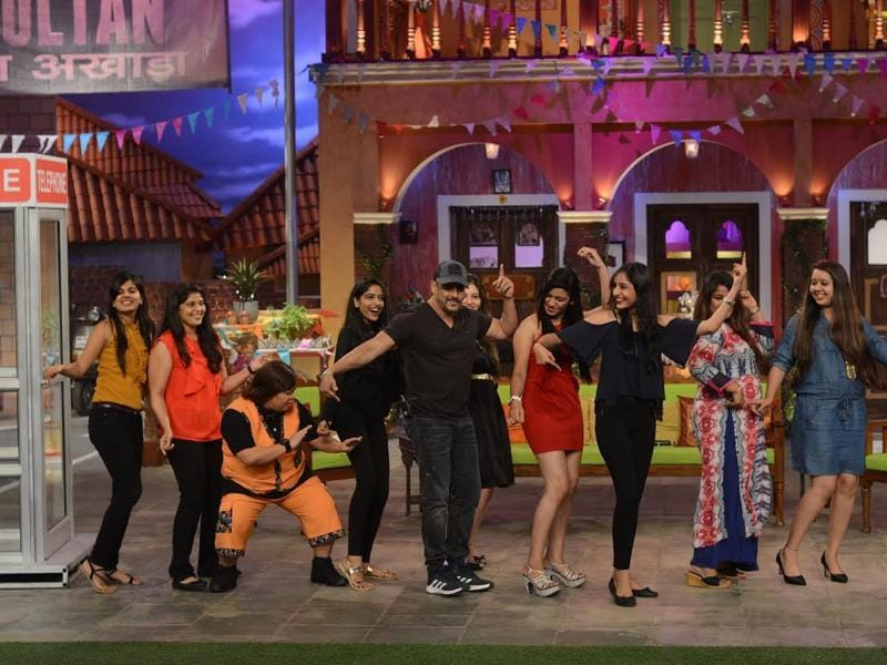 Salman Khan dances with fans on the sets of Comedy Nights Live. (COLORS)