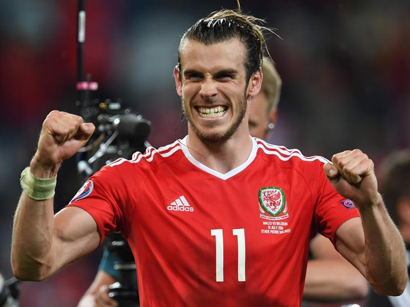 Wales' forward Gareth Bale celebrates after the Euro 2016 quarterfinal victory over Belgium. (AFP Photo)